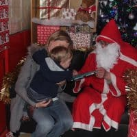 Children at Wiggles and Giggles were excited to meet Father Christmas
